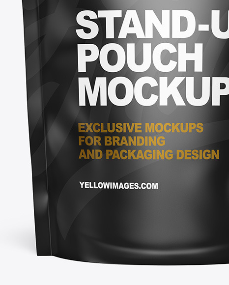 Matte Stand-up Pouch Mockup