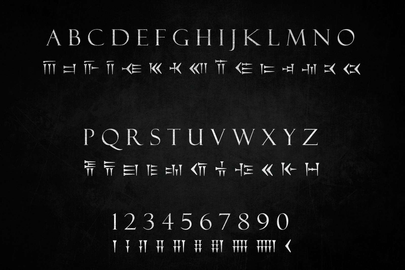 Cuneiform An Ancient Typeface In Fonts On Yellow Images Creative Store