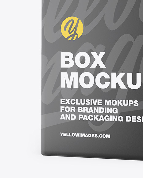 Download Matte Box Mockup In Box Mockups On Yellow Images Object Mockups PSD Mockup Templates