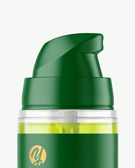 Clear Cosmetic Bottle with Pump Mockup