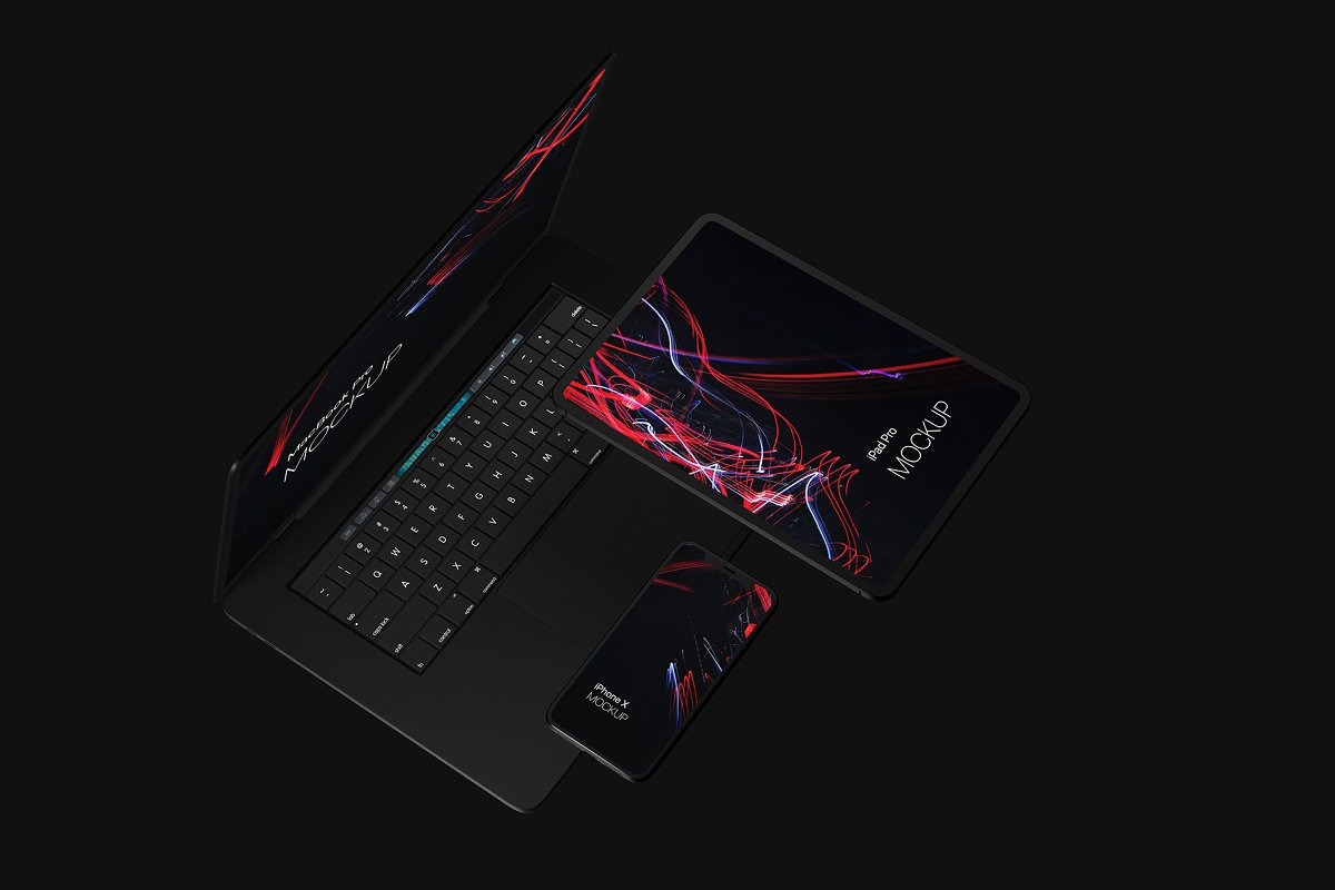 Black Devices Mockup Set