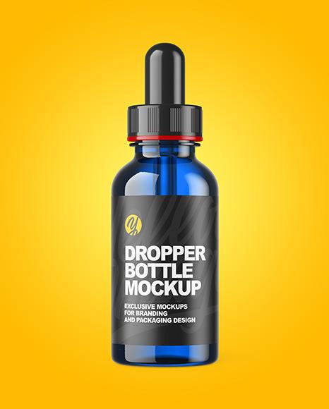 Blue Dropper Bottle Mockup
