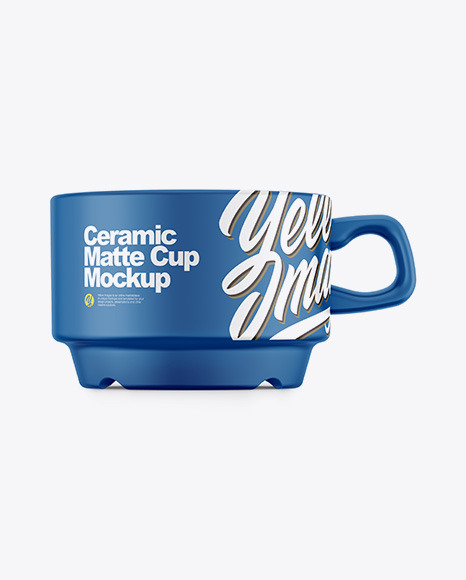 Ceramic Matte Cup Mockup – Front View
