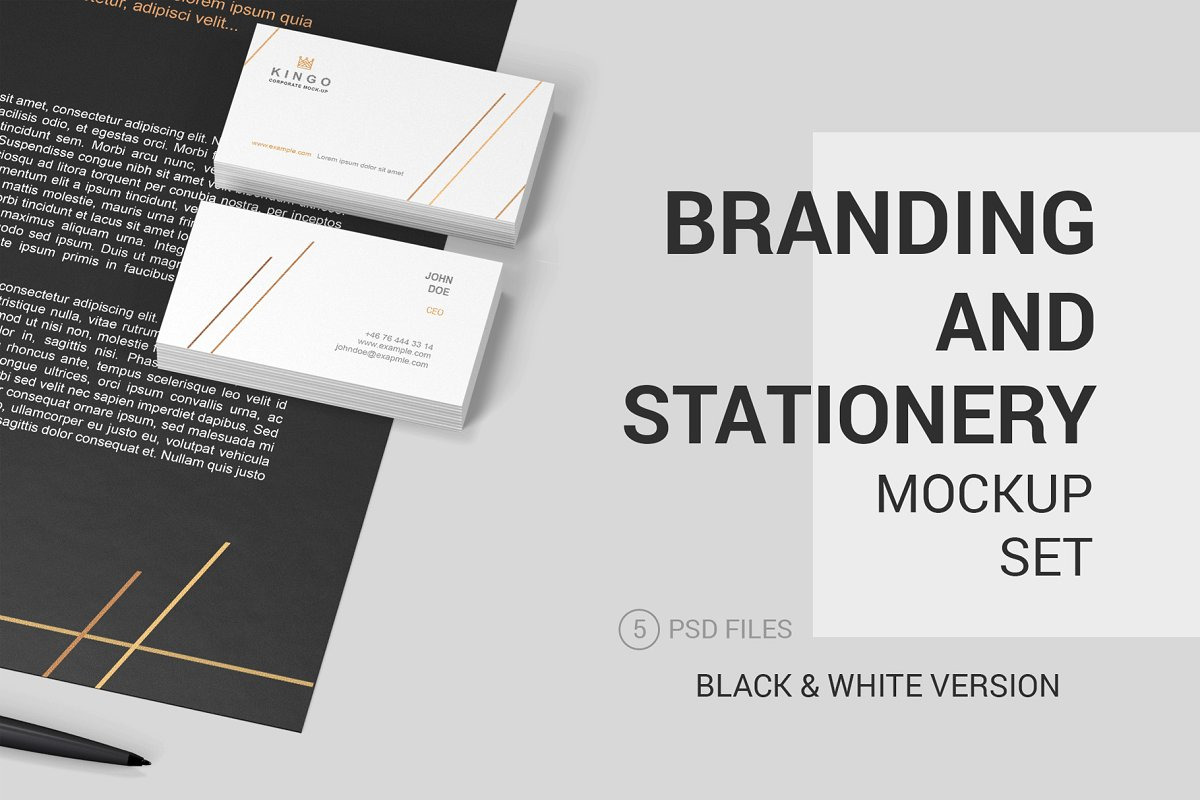 Stationery Branding Mockup Set In Stationery Mockups On Yellow