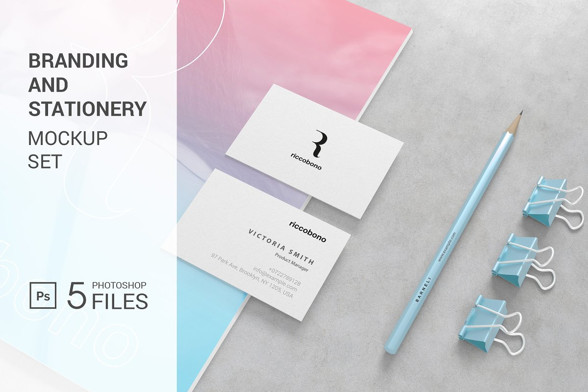 Branding And Stationery Mockup Riccobono In Stationery Mockups