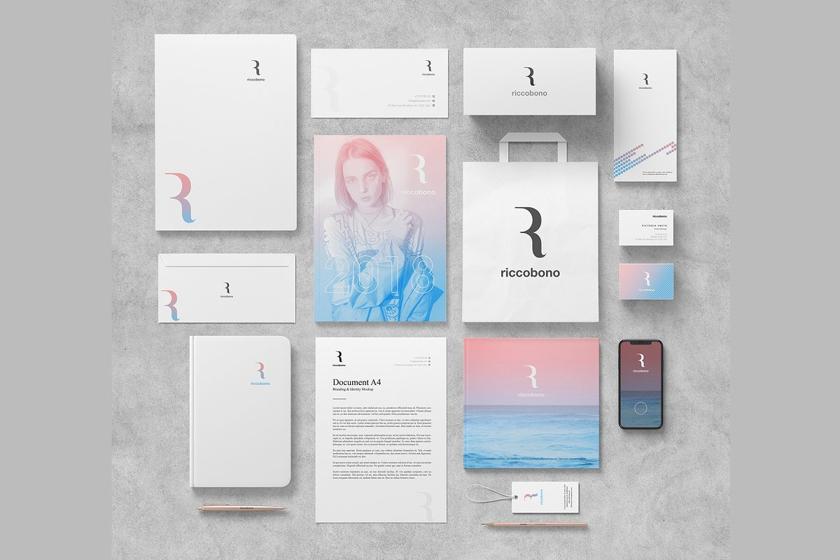 Branding And Stationery Mockup Riccobono In Stationery Mockups On