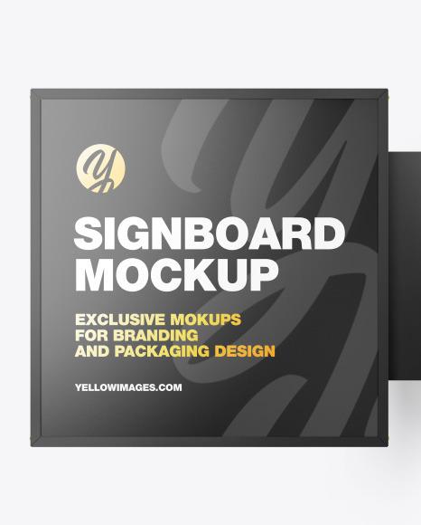 Square Signboard Mockup