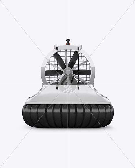 Hovercraft Mockup - Back View - Yellowimages Mockups