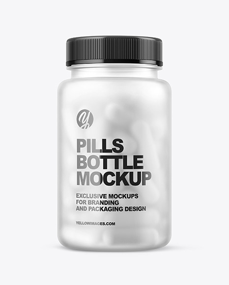 Frosted Pills Bottle Mockup