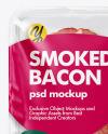 Tray w/ Smoked Bacon Mockup