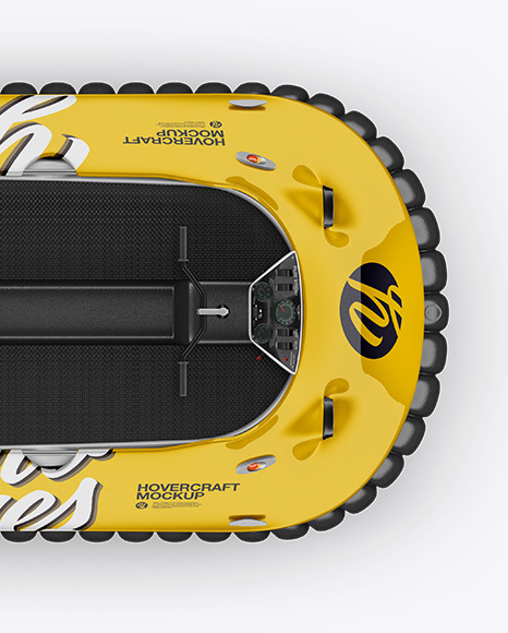 Hovercraft Mockup - Top View