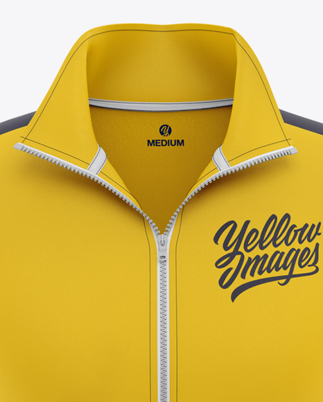 Download Mens Long Sleeve Track Jacket Mockup Yellow Images