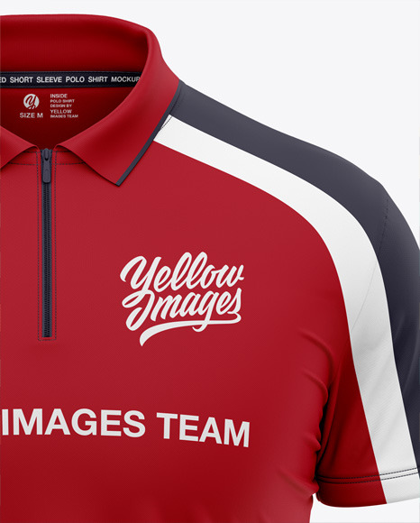 Download Mens Full Soccer Kit With Polo Shirt Mockup Front View Yellow Images
