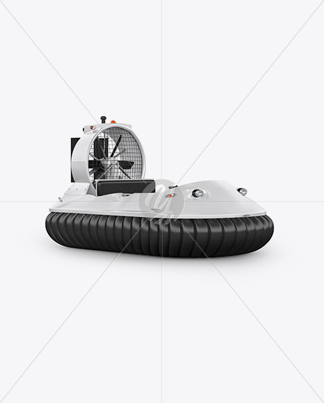 Hovercraft Mockup - HalfSide View - Yellowimages Mockups