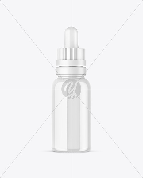 Glossy Glass Dropper Bottle