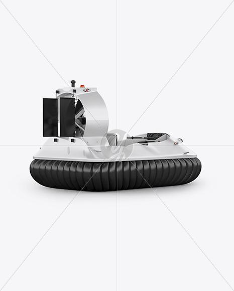 Hovercraft Mockup - Back HalfSide View - Yellowimages Mockups