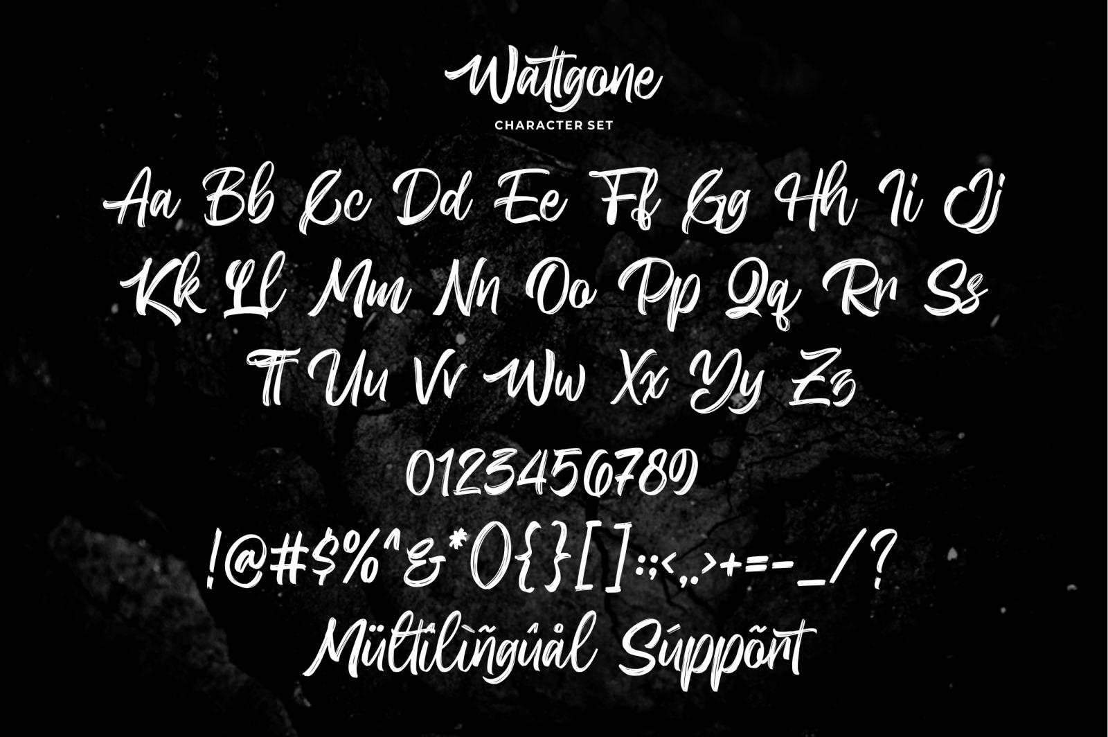 Wattgone - Handbrush Font