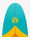 Surfboard Mockup - Back Side View