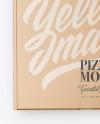 Closed  Kraft Pizza Box Mockup