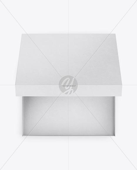 Opened Pizza Kraft Box Mockup - Top View