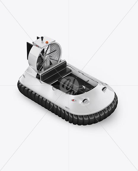 Hovercraft Mockup - HalfSide View (high angle shot)