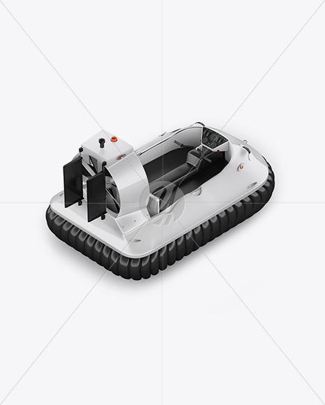 Hovercraft Mockup - Back Halfside View (high angle shot) - Yellowimages Mockups