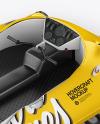 Hovercraft Mockup - Back Halfside View (high angle shot)