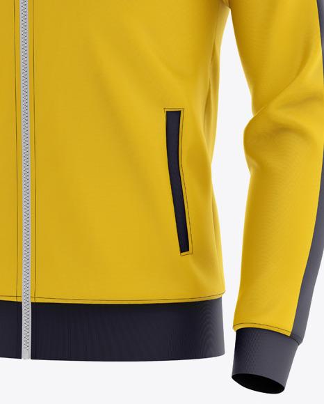 Men's Long Sleeve Track Jacket Mockup