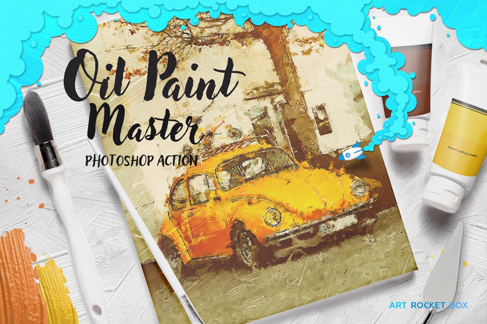 Oil Paint Master Photoshop Action