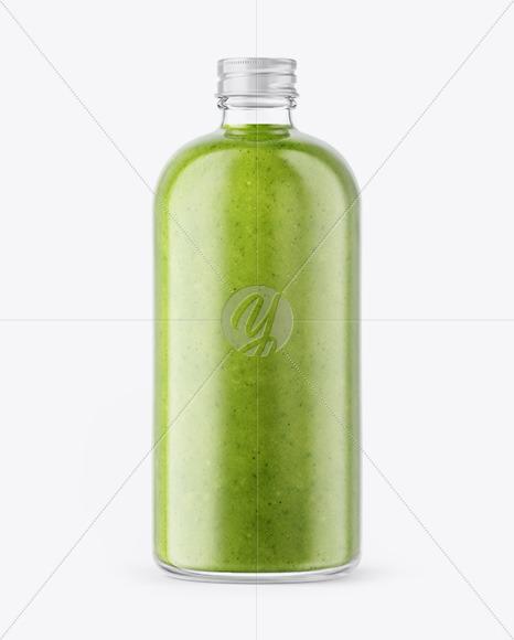 Green Smoothie Bottle Mockup