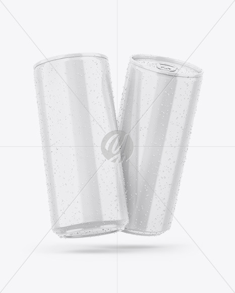 Two Glossy Cans Mockup