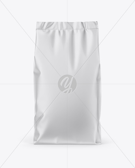 Matte Stand-Up Bag Mockup - Front View
