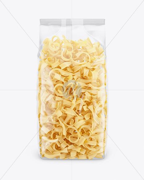 Tagliatelle Pasta Mockup - Front View