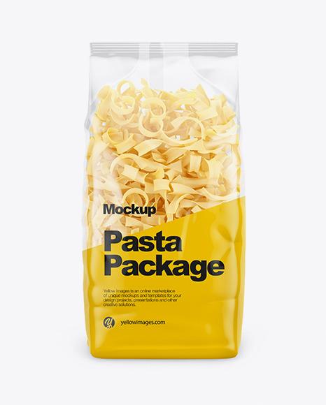 Download Tagliatelle Pasta Mockup Front View PSD - Free PSD Mockup Templates
