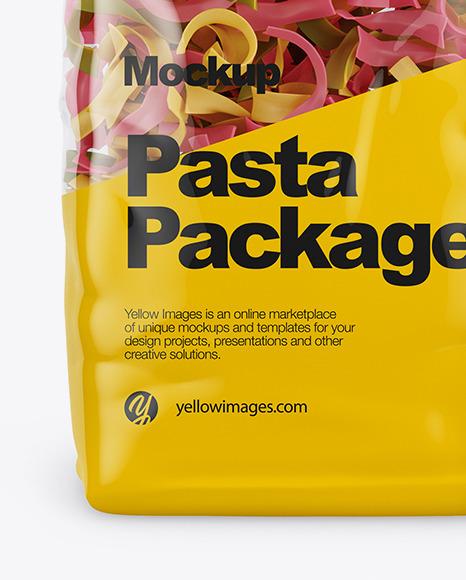 Tagliatelle Color Pasta Mockup - Front View