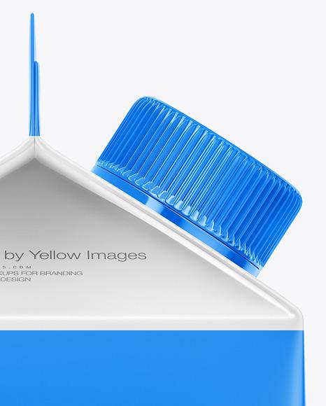 Carton Dairy Packaging Mockup - Side View