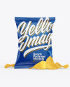 Glossy Snack Package w/ Chips Mockup