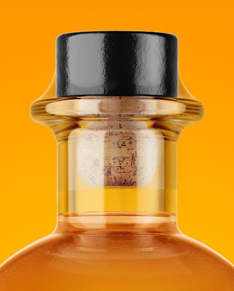 Clear Glass Whiskey Bottle Mockup