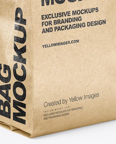 Kraft Coffee Bag Mockup