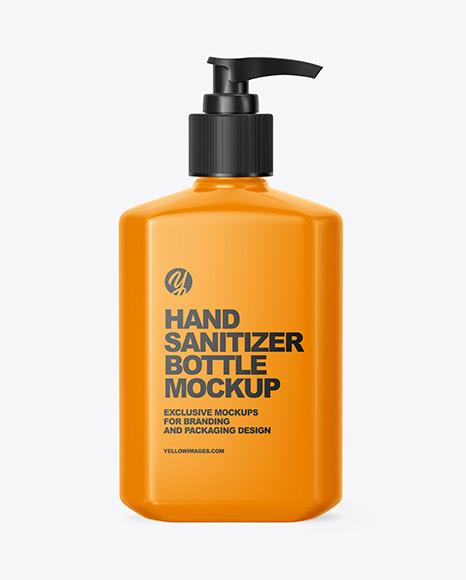 Glossy Hand Sanitizer Bottle Mockup