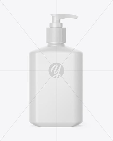 Matte Hand Sanitizer Bottle Mockup
