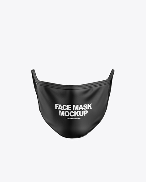 Download Black Face Mask Mockup Free Download Yellow Images