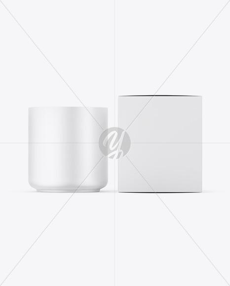 Candle W/ Paper Box Mockup