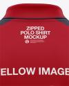 Zip Neck Polo Mockup
