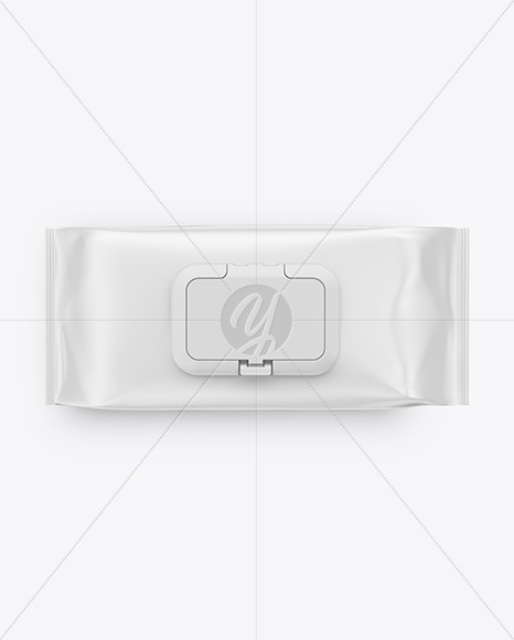 Wet Wipes Pack With Plastic Cap Mockup In Flow Pack Mockups On
