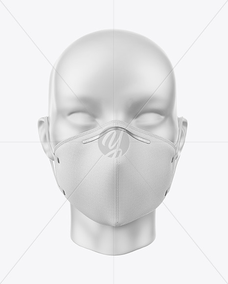 Face Mask With Nose Grip Mockup In Apparel Mockups On Yellow