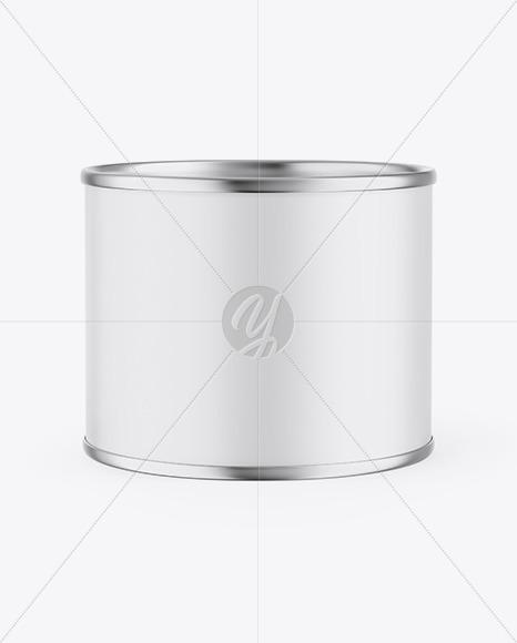 Metallic Can w/ Matte Finish Mockup