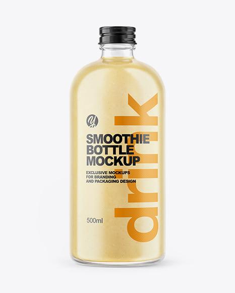 Banana Smoothie Bottle Mockup