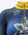Women's Cycling Suit Mockup