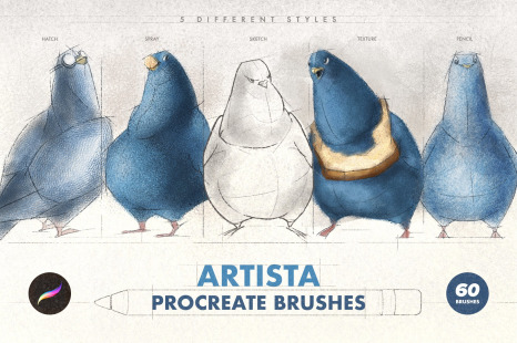 Artista Procreate Brushes in Brushes on Yellow Images Creative Store